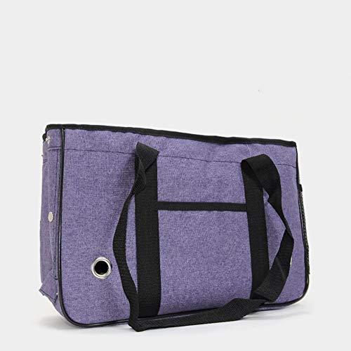 Redcolourful Bolsa de transporte para mascotas, bolsa de viaje homologada con resistente forro polar, tamaño mediano, color morado