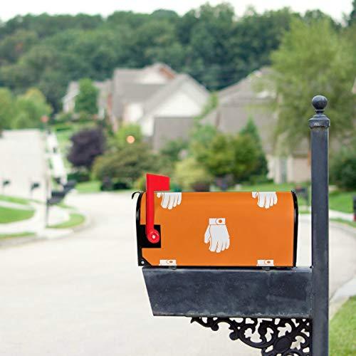 Plosds Bunte kreative Leder Boxhandschuhe Custom Mailbox Covers Magnetic Magnetic Mailbox Wraps 21 x 18 Zoll Standardgröße Original Magnetic Mail Anschreiben Briefkasten