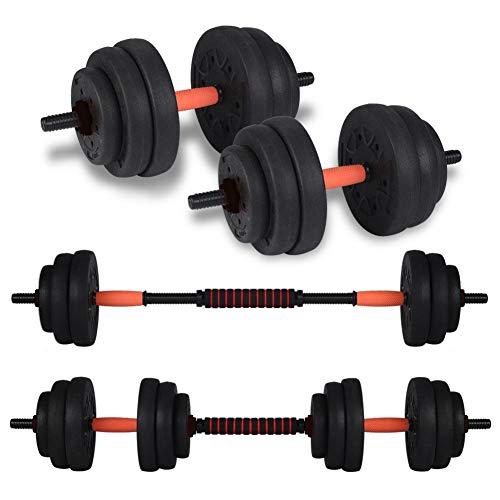 Ejoyous Kit de Mancuernas de Peso Ajustable de 20 kg, Juego de Mancuernas de Peso Ajustable 2 en 1 Entrenamiento Muscular y Levantamiento de Pesas en casa