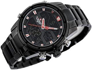 ساعة انالوج بمينا سوداء وسوار ستانلس ستيل للرجال من نافي فورس - NF9138S-BBR