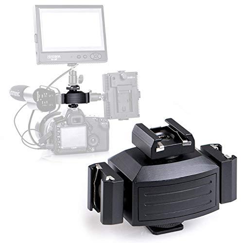 Adattatore per treppiedi in alluminio, per monitor LED, luci video, microfoni, registratore audio e staffa flash da studio