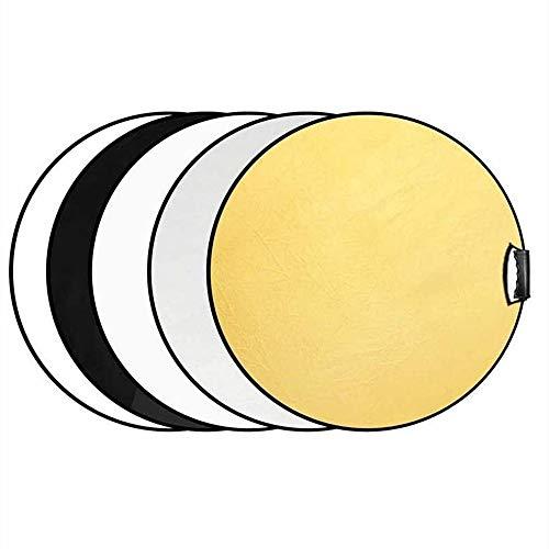 Selens 5-in-1 60cm Rund Reflektor Tragbarer Faltbarer für Fotografie Fotostudio Beleuchtung und Außenbeleuchtung