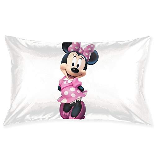 Mi_nnie Mouse - Fundas de cojín cuadradas para sofá, silla, cojines decorativos, fundas de almohada para sala de estar, cama, coche, 50,8 x 70,8 cm