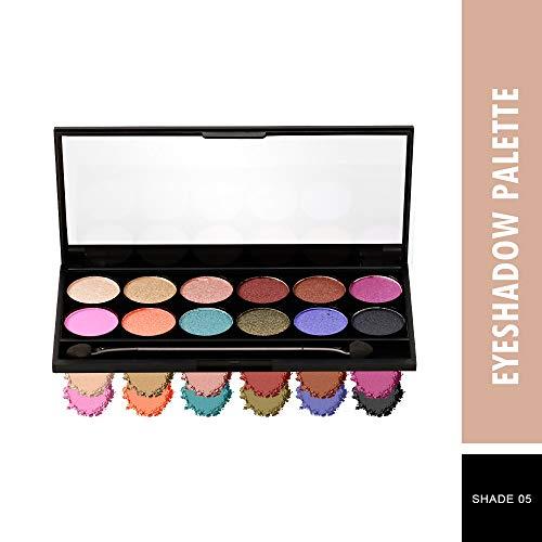 SWISS BEAUTY 12 Ultra Professional Eyeshadow Palette, Multicolor, Shade-05, 12 g