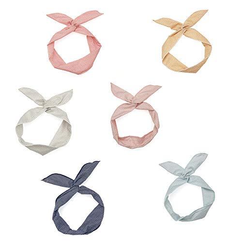 Haarband, 6 Stück Damen Kopfband Stirnbänder Verdrehte Draht Biegbar Bunny Ohr binden Bow Stirnband Haarschmuck Geschenk