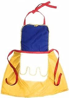 Snow White Inspired Princess Dress Up Aprons (Medium, Blue/red/Yellow)