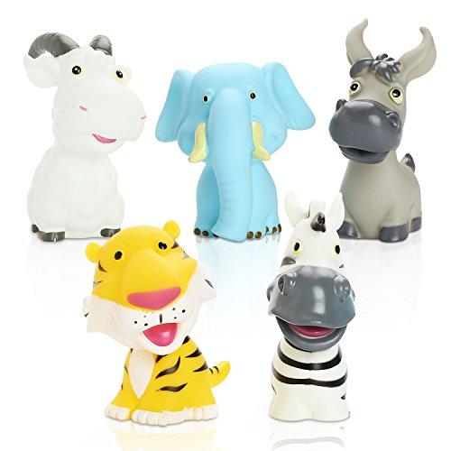 Peradix Giochi da Bagno per Bambini Giocattoli Bagnetto Animali Colori Vivaci