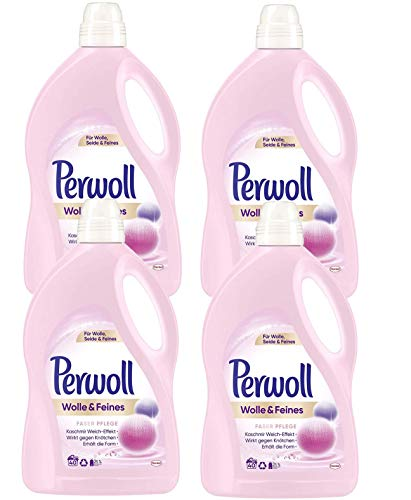 Perwoll Wolle & Feines Faser Pflege Feinwaschmittel, für Wolle, Seide und Feines (160 (4 x 40) Waschladungen)