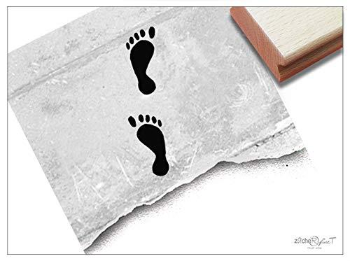 Stempel Motivstempel BARFUß, Füße Fußabdruck - Bildstempel Grüße aus dem Urlaub Karten Urlaubspost Fotobuch Reise-Gutschein Scrapbook -zAcheR-fineT