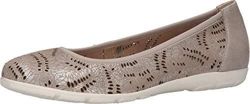 CAPRICE 9-9-22155-26, Zapatos Tipo Ballet Mujer, Silver Sue Met, 42 EU