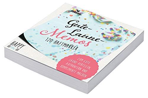 Happy Me Gute-Laune-Block | 120 Haftmarker in 6 Motiven | Haftnotizen zum Aufmuntern und Komplimente Machen