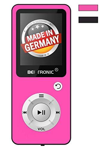 BERTRONIC Made in Germany BC04 Royal MP3-Player Bis 100 Stunden Wiedergabe Radio | Portabler Player mit Lautsprecher | Audio-Player für Sport mit Micro SD-Kartenslot