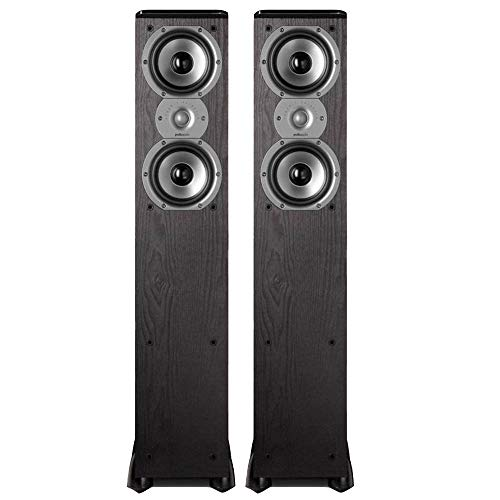Polk Audio TSi300 3-Way Tower Speakers with Two 5-1/4' Drivers - Pair (Black)