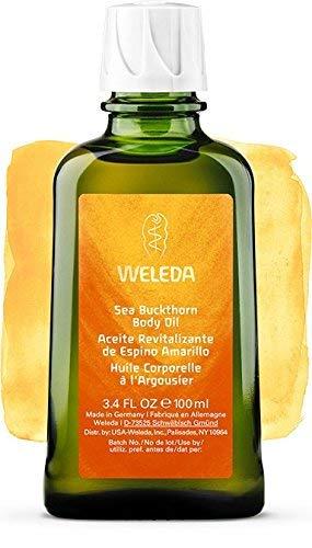 Aceite Corporal Nutritivo de Espino Amarillo, Intensivo para pieles secas - Weleda (100 ml) - Se envía con: muestra gratis y una tarjeta superbonita que puedes usar como marca-páginas!