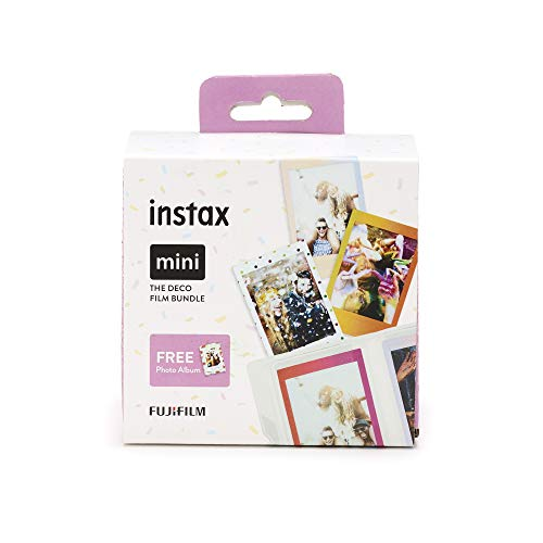 Instax Mini 3er Pack Rainbow, Candypop, Macaron + Album