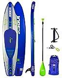 Jobe Duna Aufblasbares Stand Up Paddle Board SUP 11';6 x 31 INC Paddel, Rucksack, Pump & Leash/Strap - Blau - Wasserdicht -