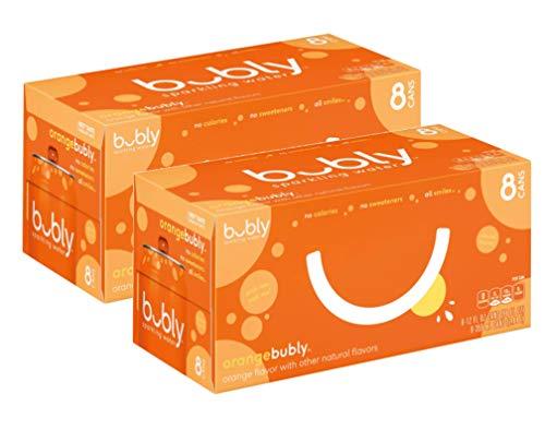 Bubly Orange 0 Cal, 0 Sugar Naturally-Flavored Sparkling Water - 16 Pck (12 oz)