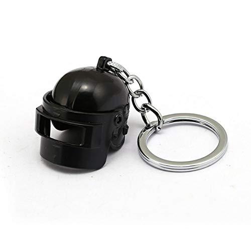 Keerock Juego Battlegrounds Llavero Casco de Fuerzas Especiales Colgante 3D Llavero Pubg