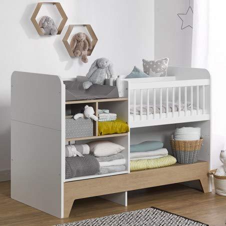 Alfred & Compagnie Lit bébé évolutif avec rangements Amélie