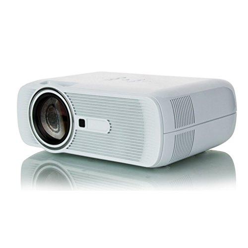 Blackpoolal Mini Proiettore LCD HD Proiettore LED 3D 2300LM Lumen Beamer Videoproiettore Home Theater BL-80 con interfaccia HDMI VGA AV (bianco)