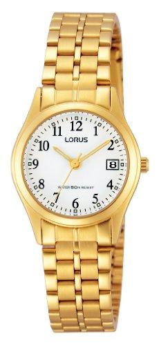 Lorus Damen-Armbanduhr XS Classic Analog Quarz Edelstahl beschichtet RH766AX9