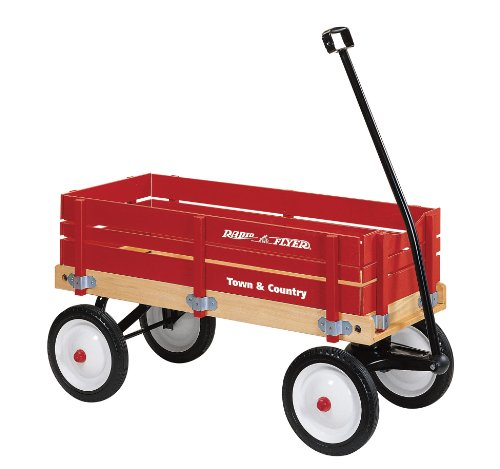 Radio Flyer Town and Country Wagon, Town and Country Wagon - Red