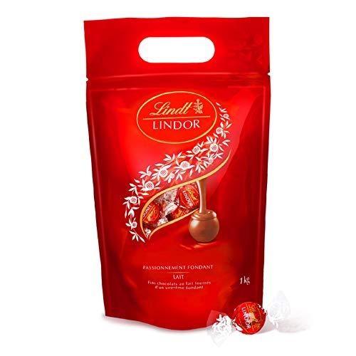 Lindt - Sachet LINDOR Lait - Chocolat au Lait - Cœur Fondant - 1kg