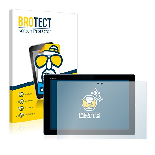 BROTECT Protector Pantalla Anti-Reflejos Compatible con Sony Xperia Z4 Tablet (2 Unidades) Pelicula Mate Anti-Huellas