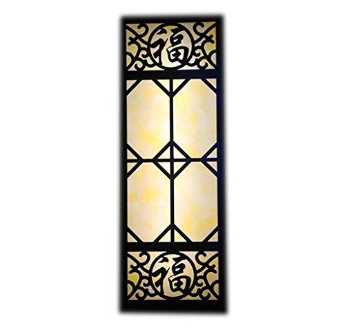Chinese Square Fong Word extérieur fer lampe de mur (Couleur : 610 * 210 * 100mm)