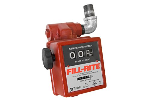 Fill-Rite 806C 5-20 GPM 3 Wheel Gravity Meter with Strainer, Aluminum, Fuel Transfer Gallon Meter, 1