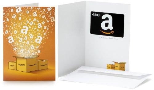 Carte cadeau Amazon.fr - €500 - Dans une carte de vœux Amazon