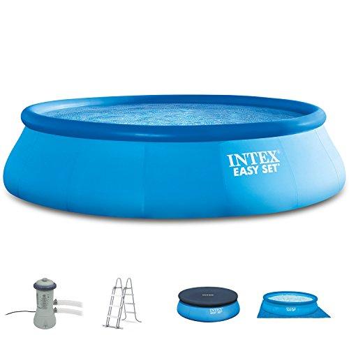 Intex 366x91 cm Easy Pool 289141 Komplettset incl. Filterpumpe, Sicherheitsleiter, A- und Uplane