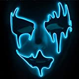 Indossare morbido Con un po 'di schiuma incollata all'interno che lo rende molto più comodo da indossare rispetto alle maschere che non lo avevano. Pieno del tuo viso sia coperto. Materiale di sicurezza: la maschera in PVC di alta qualità e luce fred...