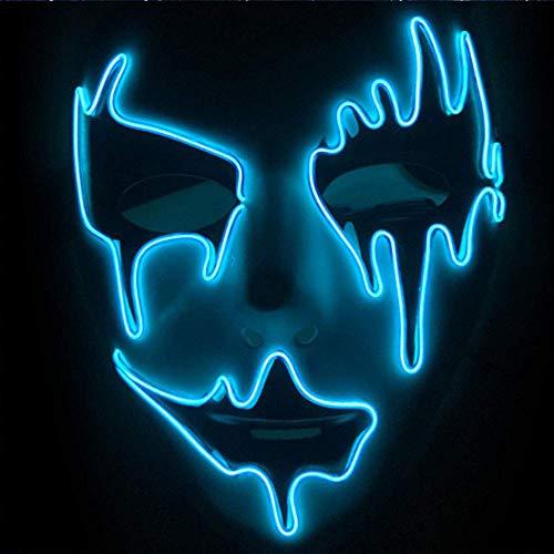 Hee Máscara de Halloween Máscara de luz LED para el Festival de Halloween Cosplay Decoraciones de Fiesta de Disfraces de Halloween (Mask-006)