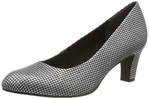 Tamaris Damen 1-1-22418-23 Pumps, Silber (Plat.Glam STR. 932), 38 EU
