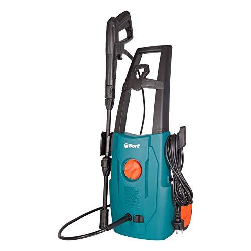 Bort BHR-1600-SC - Hochdruckreiniger, 120 bar, 7 L/min, 5m Schlauch, 1600 Watt, Hochdruckschlau mit Quick Connect System zum schnellen Wechseln der Aufsätze, für Auto, Haushalt, Garten