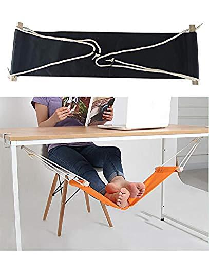 Home-organizer Tech Portable Adjustable Foot Hammock for Corner Desk Office Foot Rest Mini Under...