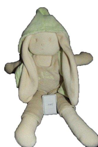 X-anderen–Kuscheltier aubisou Hase Latzhose beige Jacke Grüne 26cms–1145