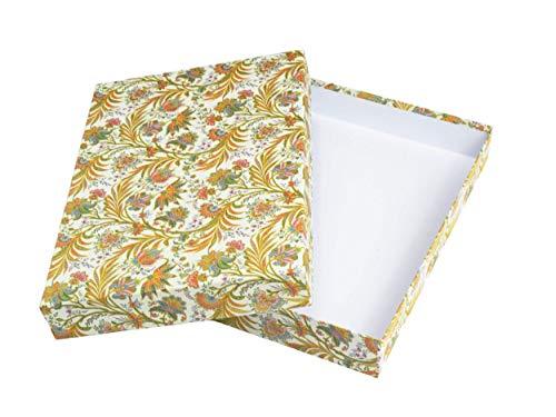 Schachtel aus Karton, Geschenkbox mit Deckel, Aufbewahrungsbox für A4 Papier, Kartonage passend für Dokumente, Unterlagen oder Bastelzubehör