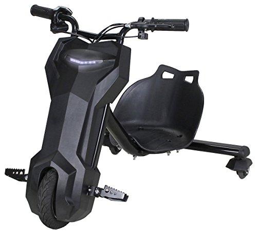 Actionbikes Motors Kinder Elektro Driftscooter 360 Grad - 250 Watt Elektromotor - 3 Geschwindigkeitsstufen - Speed Control (Schwarz)