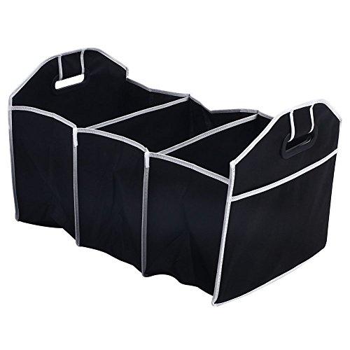 KAIYAN Caja de almacenamiento para maletero de coche, plegable, duradera, con múltiples compartimentos, organizador de asiento de camping, resistente 53 x 32 x 32 cm