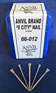 Anvil Brand 8 City Head Horseshoe Nails 250 Count Box