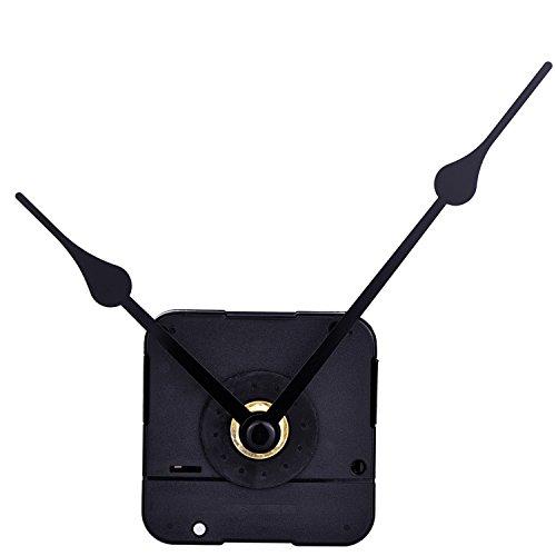 Black 2 Hands Quartz Clock Movement DIY, 6/25 Inch Maximum Dial Thickness,...