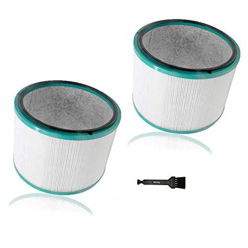 iAmoy HEPA Filtro de Repuesto Compatible con Dyson HP02 HP01 HP00 Pure Hot + Cool Link Cleaner Fan & Dyson Pure Cool HP03 & DP01 DP03 purificador de Aire de Escritorio,Incluye 2 filtros