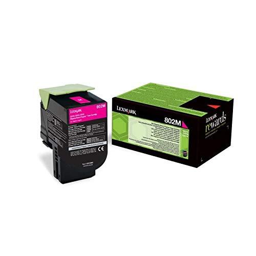 Lexmark Toner 802M CX310 CX410 CX510 80C20M0 Original Magenta 1000 Seiten