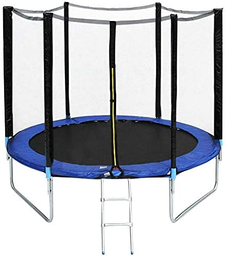 QQJL 5ft Cama Elastica Niños,Cama Elastica Infantil Interior con Red Protectora,Camas Elasticas para Niños Exterior,Trampolin Infantil 1,5 Metros de Diámetro,Aguanta 50 kg