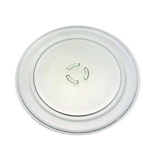 Bauknecht - Piatto in vetro, diametro: 36 cm, per forno a microonde, per WHIRLPOOL, BAUKNECHT, KITCHENAID, IKEA, IGNIS