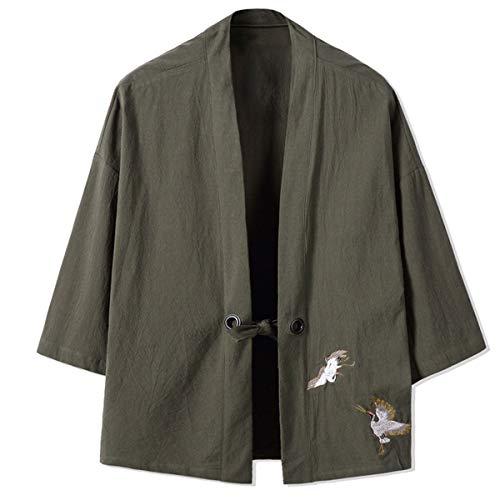 Happi Kimono Haori herenjack voor lente en zomer, van katoen, modieuze mantel