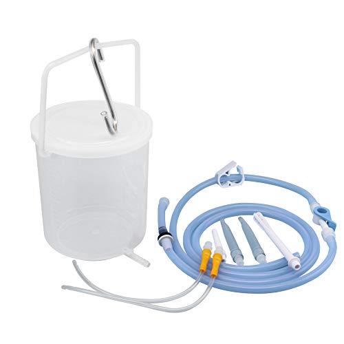TopQuaFocus Enema Bucket Kit Plastic Enema Bucket for Cover Colon Cleansing 2 Quart Enema Silicone Hose 6.5 Foot Long Colon Tube……
