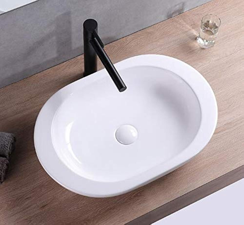 1 x Ceramic washbasin top Oval Large Ceramic washbasin wash Basin 59 cm L 42 cm B